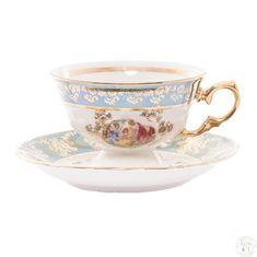 Набор чайных пар 240 мл ФРЕДЕРИКА МАДОННА, ЗЕЛЕНАЯ расцветка от Carlsbad, 6 пар