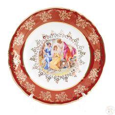 Набор тарелок 19 см ФРЕДЕРИКА МАДОННА, КРАСНАЯ расцветка от Carlsbad, 6 шт.