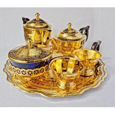 Чайно-кофейный набор посуды ЦАРСКИЙ от Zlatoust, 6 предметов