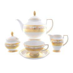 Чайный сервиз C-CREAM 9320 от Falkenporzellan на 6 персон, 17 предметов, фарфор