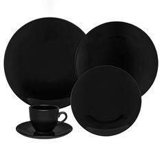 Черный чайно-столовый сервиз от Oxford на 6 персон, 42 предмета, керамика