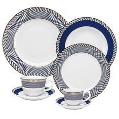 Чайно-столовый сервиз из керамики от Oxford на 6 персон, 42 предмета