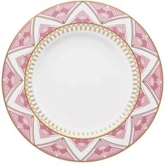 Набор керамических тарелок 28 см МАКРАМЕ от Oxford, 6 шт.