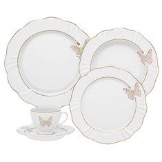 Чайно-столовый сервиз из керамики БАБОЧКИ от Oxford на 6 персон, 30 предметов