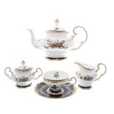 Фарфоровый чайный сервиз ВОСПОМИНАНИЕ от Royal Classics на 6 персон, 15 предметов