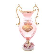Хрустальная ваза для цветов РОЗАПЕРЛА (RosaPerla)