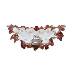 Фарфоровая корзина 45 см ОХОТА КРАСНАЯ расцветка от Queens Crown (Prince Porcelain)