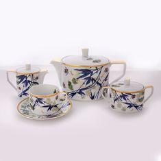 Сервиз чайный ТУРАНДОТ, белый цвет, от Rosenthal на 6 персон, 15 предметов