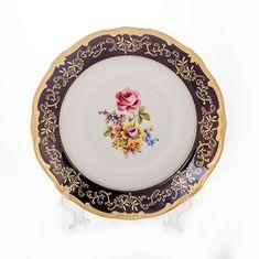 Набор тарелок 22 см САНКТ-ПЕТЕРБУРГ КОБАЛЬТ от Weimar Porzellan, фарфор, 6 шт.