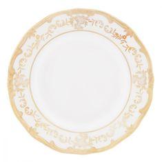 Набор тарелок 17 см ЮВЕЛ КРЕМОВЫЙ от Weimar Porzellan, фарфор, 6 шт.