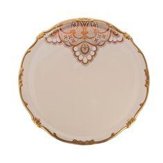Тортница 33 см ЛЭЙС КРЕМ (Lace Cream) от Weimar Porzellan, фарфор