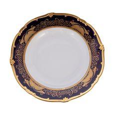 Блюдо круглое глубокое 33 см СИМФОНИЯ КОБАЛЬТ от Weimar Porzellan, фарфор