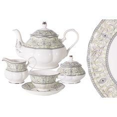 Чайный фарфоровый сервиз ЖОЗЕФИНА от Colombo на 6 персон, 15 предметов