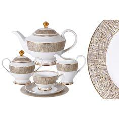 Чайный фарфоровый сервиз ЛУКСОР от Midori на 6 персон, 23 предмета