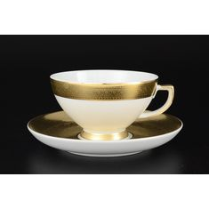 Набор чайных пар FULL GOLD 9342 от Falkenporzellan, 6 пар