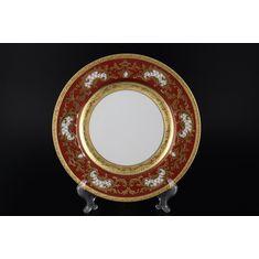 Набор тарелок 27 см ALENA 3D BORDEAUX GOLD CONSTANZA от Falkenporzellan, 6 шт.