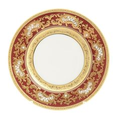 Набор тарелок 17 см ALENA 3D BORDEAUX GOLD CONSTANZA от Falkenporzellan, 6 шт.