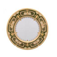 Набор фарфоровых тарелок 23 см DONNA GREEN GOLD от Falkenporzellan, 6 шт.