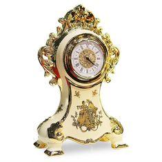 Часы настольные AMANTE CREMA от Migliore, высота 39 см, керамика