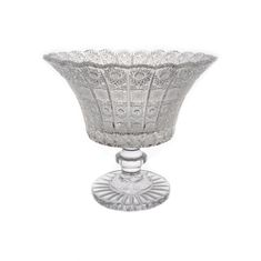 Хрустальная ваза на ножке 31 см от Glasspo