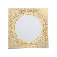 Набор фарфоровых тарелок 27 см TOSCA CREME GOLD от Falkenporzellan, 6 шт.