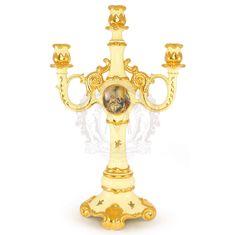 Подсвечник на 3 свечи BAROQUE от Migliore, высота 53 см, керамика, декор - золото