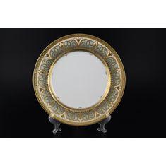 Набор фарфоровых тарелок 28 см ARABESQUE SELADON GOLD от Falkenporzellan, 6 шт.
