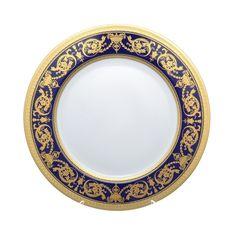 Блюдо круглое 32 см IMPERIAL COBALT GOLD от Falkenporzellan, фарфор