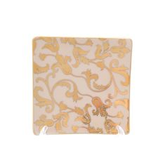 Набор квадратных розеток 12 см TOSCA CREME GOLD от Falkenporzellan, фарфор, 6 шт.