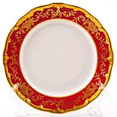 Набор фарфоровых тарелок 15 см ЮВЕЛ КРАСНЫЙ от Weimar Porzellan, 6 шт.