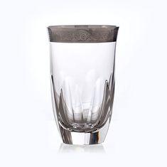 Набор стаканов 250 мл ДЖЕССИ ПЛАТИНА от Kvetna, стекло, 6 шт.
