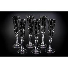 Хрустальный бокал для шампанского, коллекция СТАККАТО, от Cristallerie de Montbronn, серый цвет