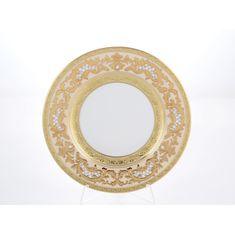 Набор фарфоровых тарелок 23 см ALENA 3D CREME GOLD CONSTANZA от Falkenporzellan, 6 шт.