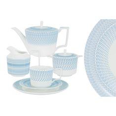 Чайный сервиз БЛЮЗ от Naomi на 6 персон, 21 предмет, фарфор