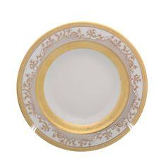 Набор фарфоровых глубоких тарелок 22 см CREAM GOLD 9320 от Falkenporzellan, 6 шт.