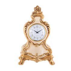 Настольные (каминные) керамические часы Orgia, цвет золотой, 38х24 см