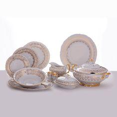 Сервиз столовый ЛИСТ БЕЛЫЙ от Bavarian Porcelain на 6 персон, 28 предметов
