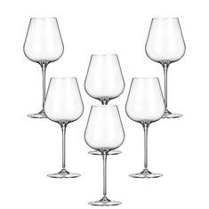 Набор бокалов для вина 460 мл AMY от Crystalite Bohemia, стекло, 6 шт.