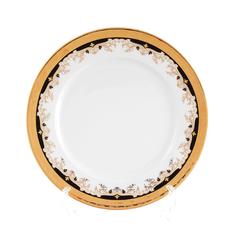 Набор фарфоровых тарелок 25 см КРИСТИНА, декор - черная лилия, от Thun 1794 a.s., 6 шт.