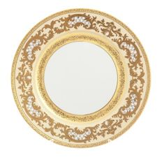 Блюдо круглое 32 см ALENA 3D CREME GOLD CONSTANZA от Falkenporzellan, фарфор