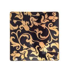Набор квадратных тарелок 16 см TOSCA BLACK GOLD от Falkenporzellan, фарфор, 6 шт.