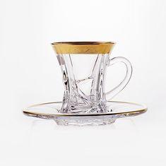 Набор стеклянных чайных пар КРИСТАЛАЙТ-430469 от Crystalite Bohemia на 6 персон, 12 предметов