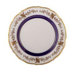 Набор фарфоровых тарелок 25 см ДЕКОР 2705 от Epiag, 6 шт.