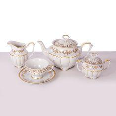 Фарфоровый чайный сервиз МАРИЯ ТЕРЕЗА 2752 от Bavarian Porcelain на 6 персон, 15 предметов