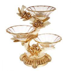 Менажница на 3 чаши РОЗЫ от Чевик (Cevik), 34.5х18 см