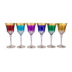 Набор разноцветных бокалов 280 мл АДАЖИО ГАРДЕН колорс от Bohemia Design, стекло, 6 шт.