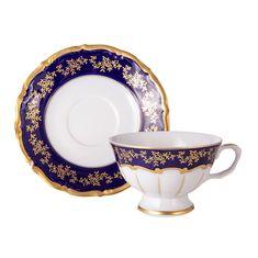 Набор чайных пар 200 мл МАРИЯ ТЕРЕЗА 2751 от Bavarian Porcelain на 6 персон, 12 предметов