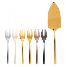 Набор столовых приборов для торта ЛИНЕАР (Linear) от Sambonet на 6 персон, 7 предметов