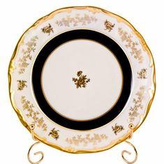 Набор фарфоровых тарелок 22 см АННА АМАЛИЯ от Weimar Porzellan, 6 шт.