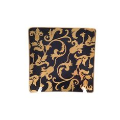 Набор квадратных розеток 12 см TOSCA BLACK GOLD от Falkenporzellan, фарфор, 6 шт.